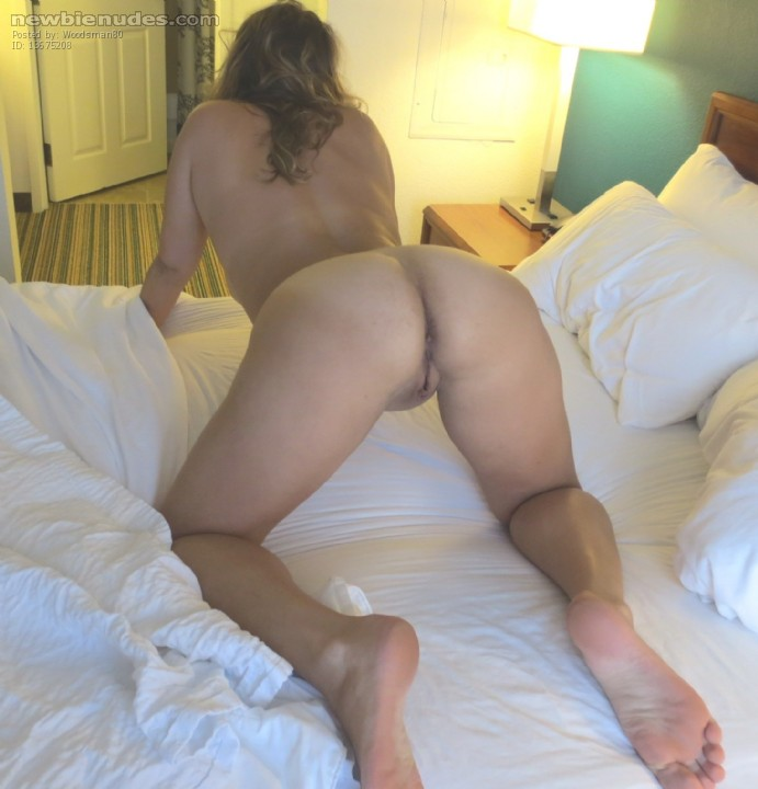 Nude wife on all fours