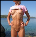T-shirt declares: The best view in Croatia... What do you think about this ...