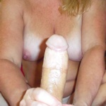 Stroking my hubby's big dick. How am I doing?