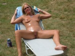 Tanning in my back yard