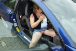 Out & About: Off in the car to get some shopping minus my Bra & Knickers. I...