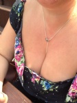 Nice bit of cleavage in the sun at the pub