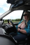 out driving with my tits out again