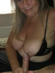 ME AND MY HUBBYS COCK ON MY TIT