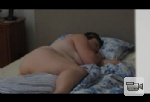 My buttocks, big belly and side shot of my right breast as hubby films me w...