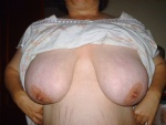 wife showing her big tits...