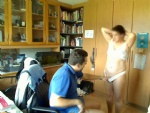 the beginning of another office session with my wife & me ...sorry webcam w...