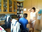my wife & me in our office...i love to play with her...and the webcam was o...