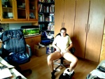 a view into our office...my wife is waiting...looks like fun.. ! comment or...