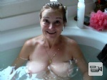 HouseWhore bathing at your house after sex..Floating Tetas vid