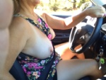 Nothing makes me more wet than driving with my big boobies hanging out!  An...