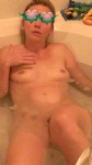 My wife waiting for a cum bath. Can you help her?