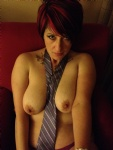 Wifey in a hotel room, playing with my tie...