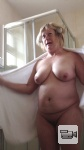 watch her 38 inch tits and belly wobble