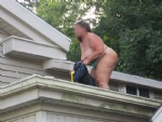 Just cleaning out the gutters