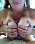 I woke up this morning craving a hard cock between my big boobies!  Imagine...