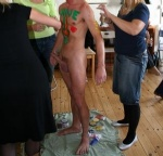 bodypaint at Gittes birthday