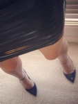 Latex skirt at work = popular lol x