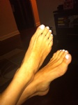 my sexy white toes