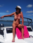 the captain said if  there was no fish about i had to be nude have my photo...
