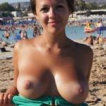 My gf on hot spanish beach