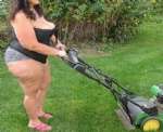 just another day mowing the lawn