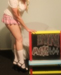 Requested by eames1 ... naughty school girl ;) any more requests? xxx