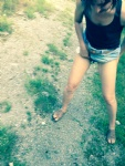 Outdoor in crouch-less  panties...;-)