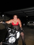 sexybbwmum posing with My bike for some new pics.