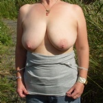 My big titties out and about