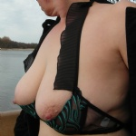 Nipples and 1/2 cup bra