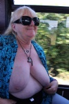 Tits out in the back of the bus