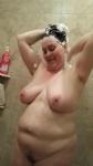 Michele has some big hard suckling nipples.