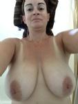 MILF selfie of tits