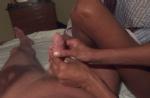 very sensitive hand job