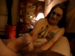 I am my husbands whore I love to jac him off and watch him cum just doing m...