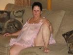 Mature BBW wife in see thru