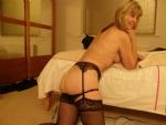 Ooooo he has pulled my panties further, nearly naked.