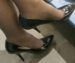 Marie's feet, heels and hotwife ankle bracelet