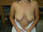 A treat for you all, my wifes breasts ,enjoy :)