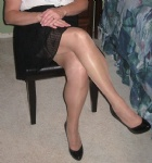 stockings and heels for the leg men ....