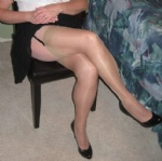 ... proper stockings for the office of course ...