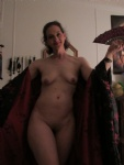 Me having fun with a kimono that I made, dancing and posing.