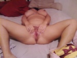 Bigtit slut wife spreading her huge wet pussy lips open begging for a cock....