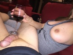 Perfect pairing a good glass of wine and a hard cock!