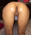 Ass and pussy oiled up
