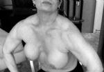 Her muscular shoulders…