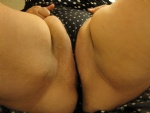 Tight panties on bald pussy