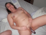 dirty wife with her toy and a load over her. Comments welcome