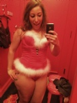 An old picture of me trying on lingerie! Let me be your Mrs. Claus?